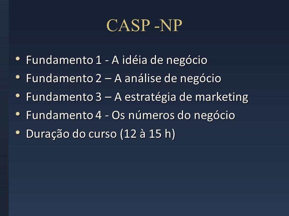 CASP -NP Fundamento 1 - A idéia de negócio Fundamento 1 - A idéia de negócio Fundamento 2 – A análise de negócio Fundamento 2 – A análise de negócio F