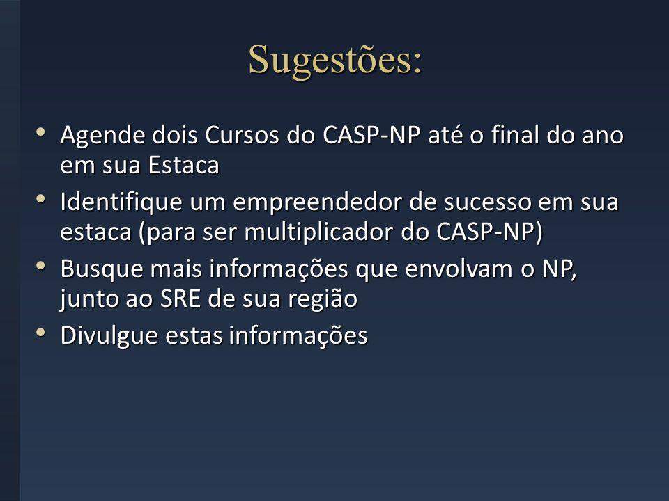 Sugestões: Agende dois Cursos do CASP-NP até o final do ano em sua Estaca Agende dois Cursos do CASP-NP até o final do ano em sua Estaca Identifique u