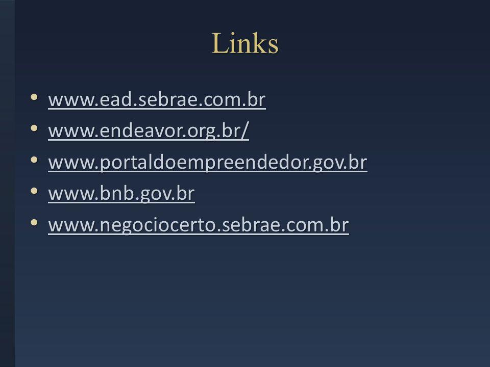 Links www.ead.sebrae.com.br www.ead.sebrae.com.br www.ead.sebrae.com.br www.endeavor.org.br/ www.endeavor.org.br/ www.endeavor.org.br/ www.portaldoemp