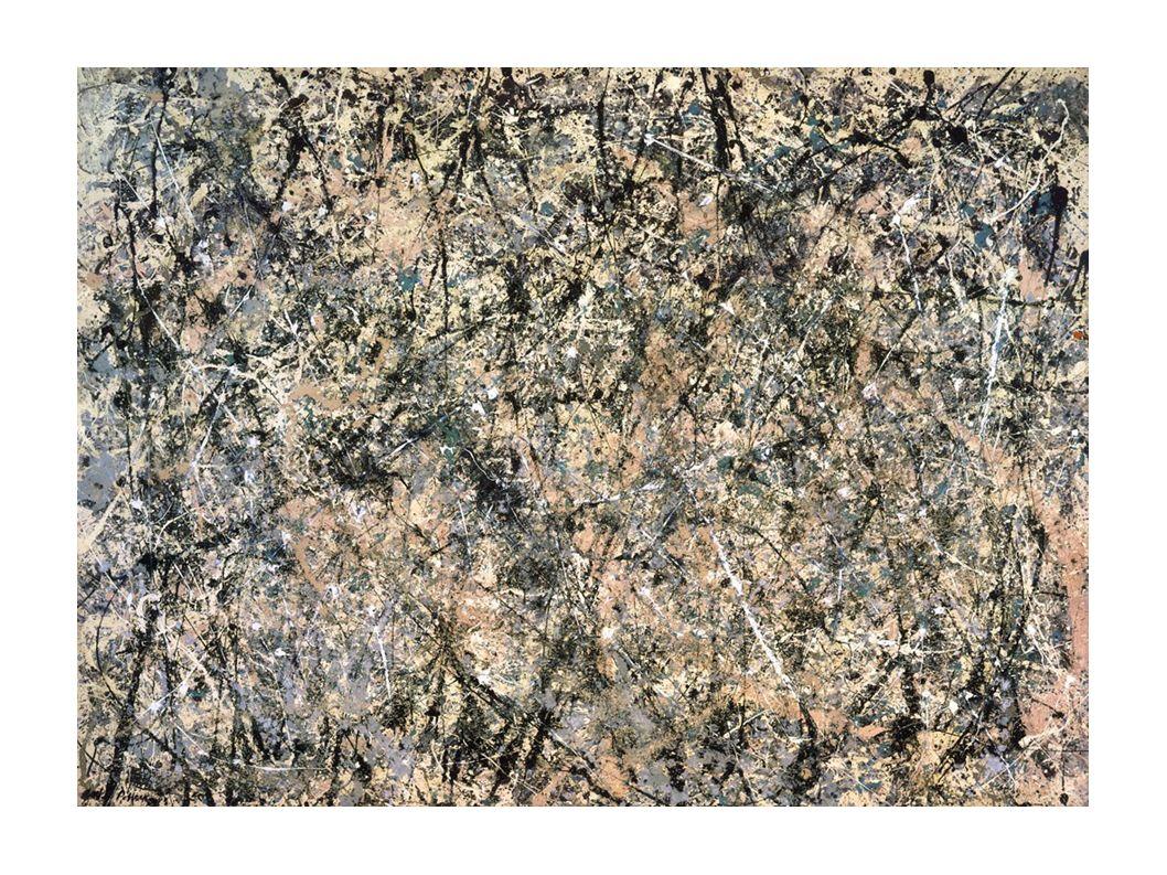 Pollock e Greenberg Desenhar com a tinta, formando uma teia compositiva com elementos cromáticos e lineares, com a criação de ilusões espaciais Investigação da percepção, impacto sensorial Movimento e ritmo – o gestual, o compositivo total (all-over) – performance (movimentos e ações) com o corpo, feitas pelo artista Filmes: POLLOCK; O SORRISO DE MONALISA