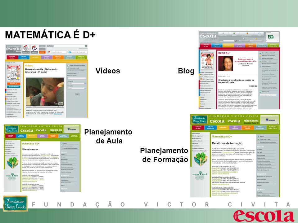 MATEMÁTICA É D+ VídeosBlog Planejamento de Aula Planejamento de Formação