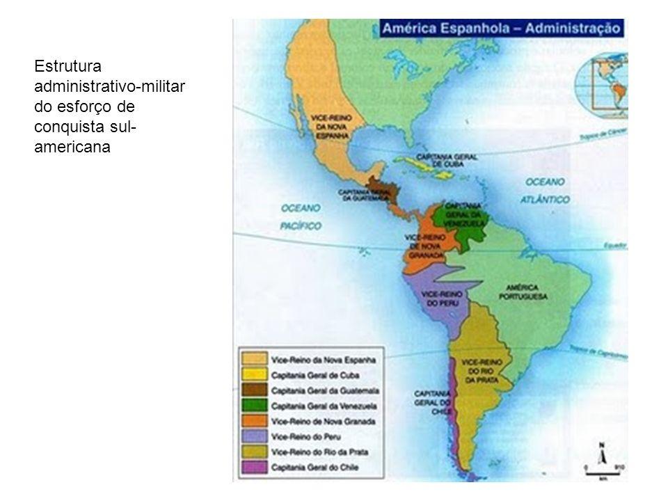 Estrutura administrativo-militar do esforço de conquista sul- americana