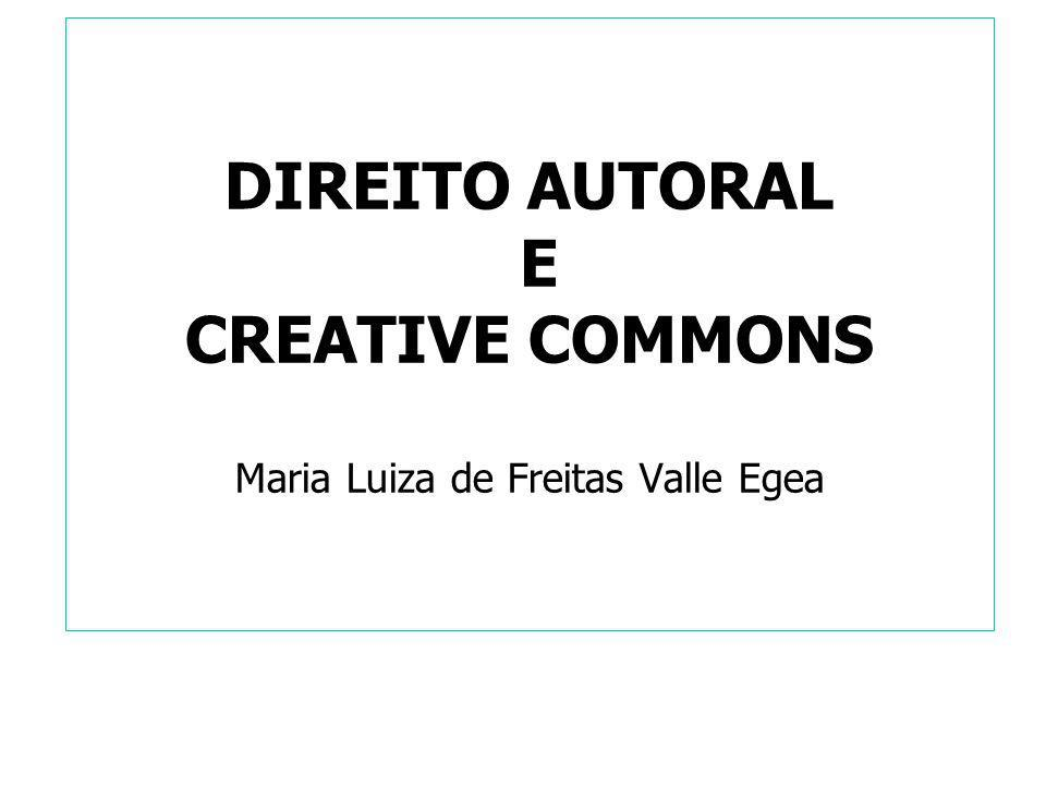 DIREITO AUTORAL x CREATIVE COMMONS Lei 9.610/98 Art.