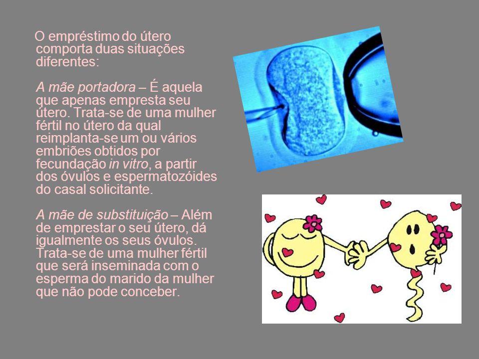 Em Portugal: Não é admitido o contrato oneroso por duas razões: primeiro não é possível renunciar ao direito de mãe; segundo, porque ofende o princípio da dignidade da pessoa humana.