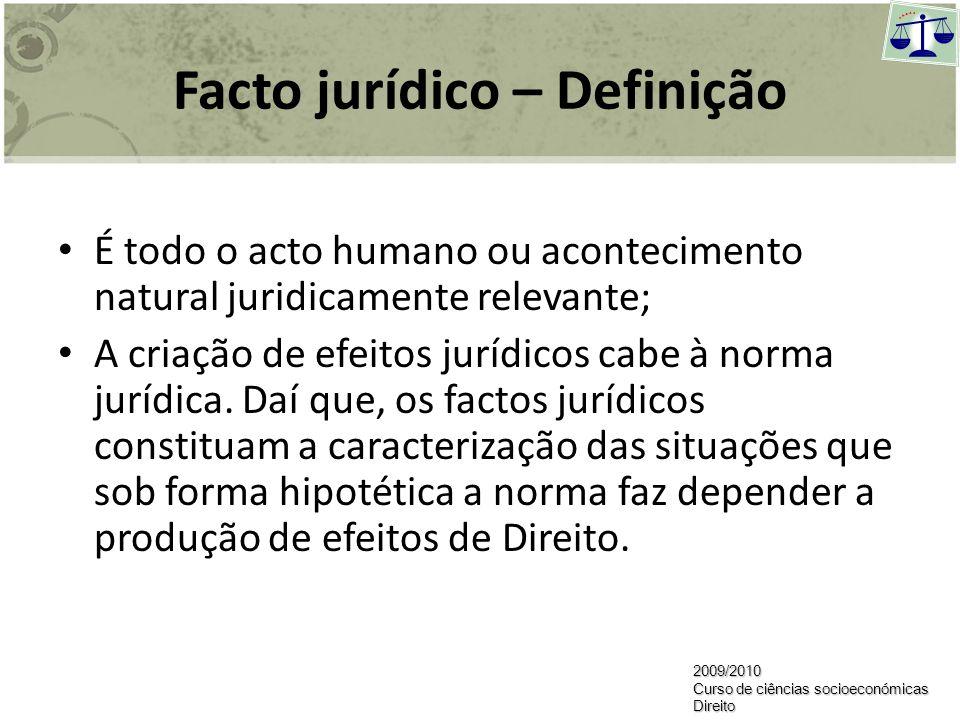 Elementos da relação jurídica O facto Jurídico A garantia das obrigações2009/2010 Curso de ciências socioeconómicas Direito