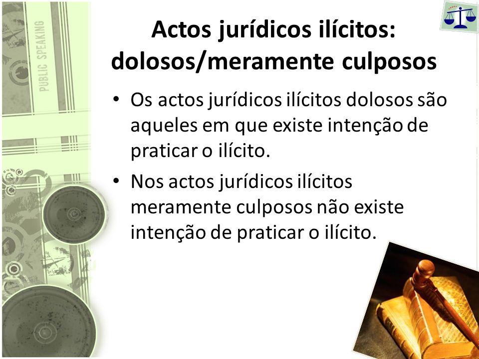 Actos jurídicos lícitos: negócios jurídicos/simples actos jurídicos Negócios jurídicos são actos jurídicos em que existe uma intencionalidade dos nego