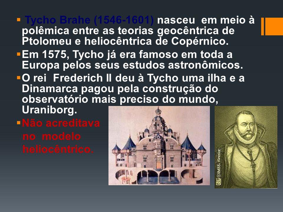 Tycho Brahe (1546-1601) nasceu em meio à polêmica entre as teorias geocêntrica de Ptolomeu e heliocêntrica de Copérnico. Em 1575, Tycho já era famoso
