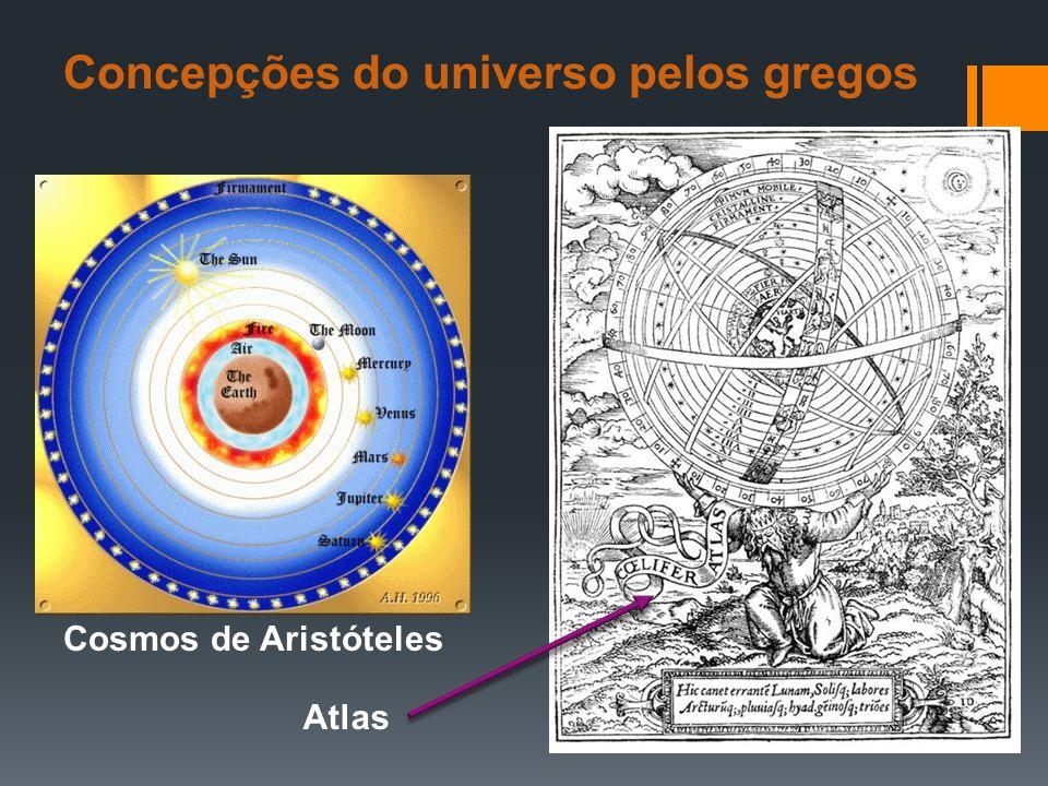 Concepções do universo pelos gregos Cosmos de Aristóteles Atlas
