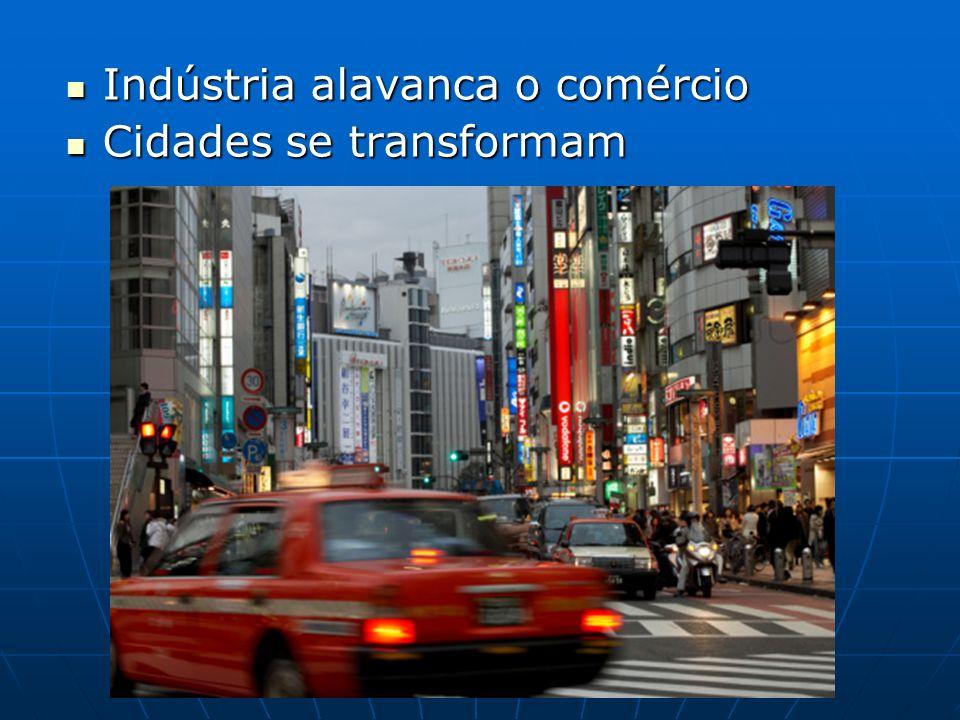 Indústria alavanca o comércio Indústria alavanca o comércio Cidades se transformam Cidades se transformam