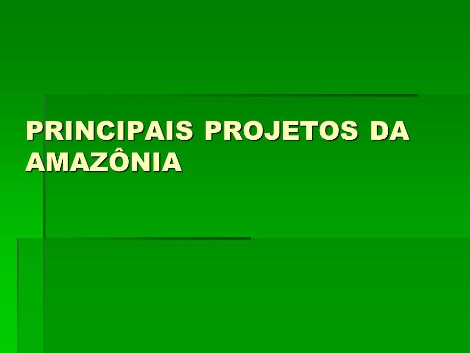 PRINCIPAIS PROJETOS DA AMAZÔNIA
