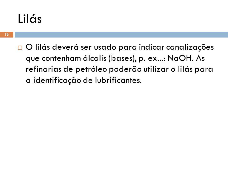 Cinza Claro Usado para identificar canalizações em vácuo.