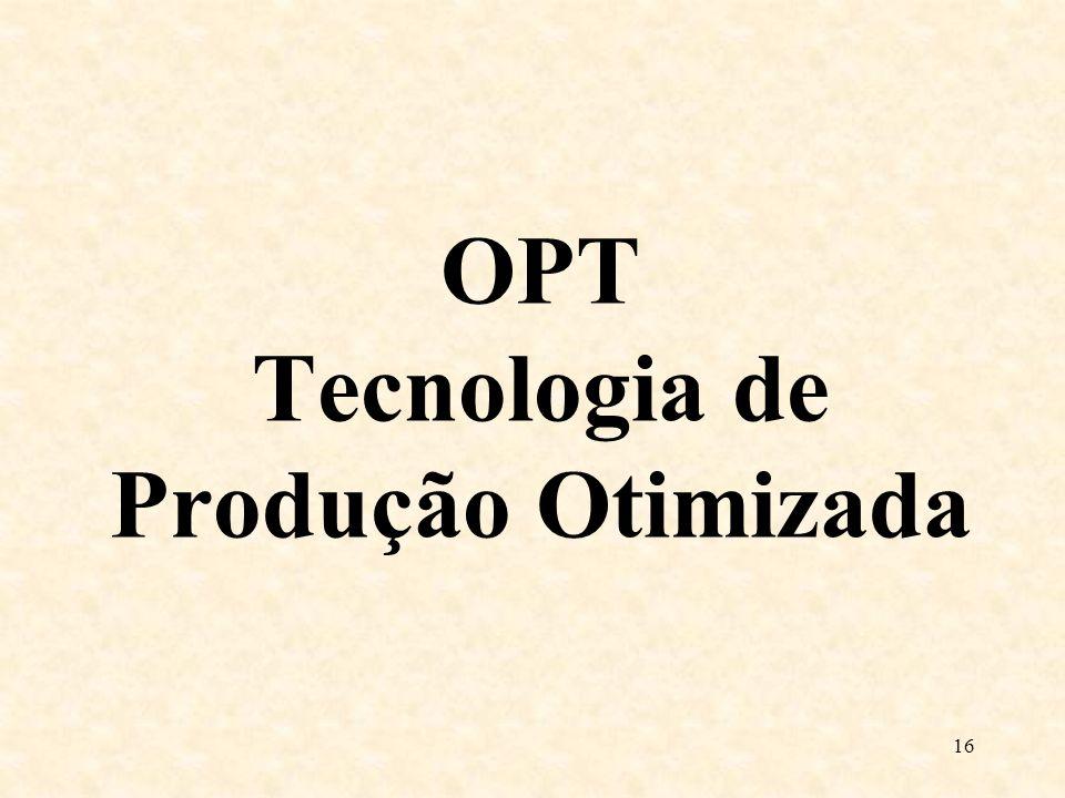 OPT Tecnologia de Produção Otimizada 16