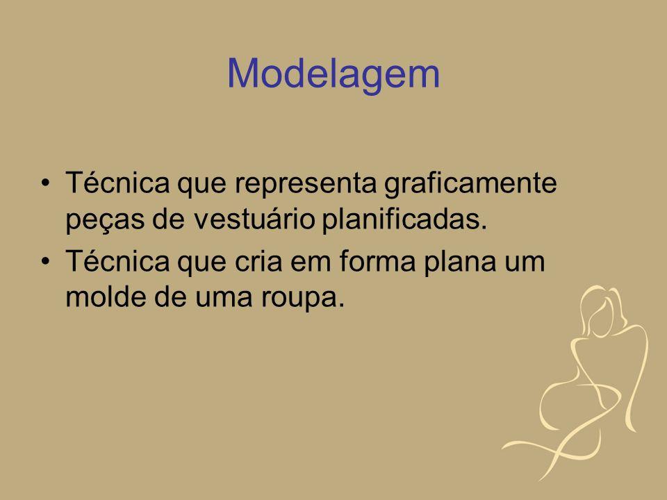 Moulage Técnica de modelagem muito usada atualmente em que o tecido é montado e ajustado diretamente no manequim de atelier (boneco de alfaiate ou busto), é feito o molde em morim (ou no próprio tecido da roupa definitiva).