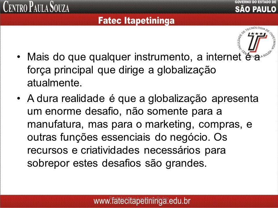 Mais do que qualquer instrumento, a internet é a força principal que dirige a globalização atualmente. A dura realidade é que a globalização apresenta