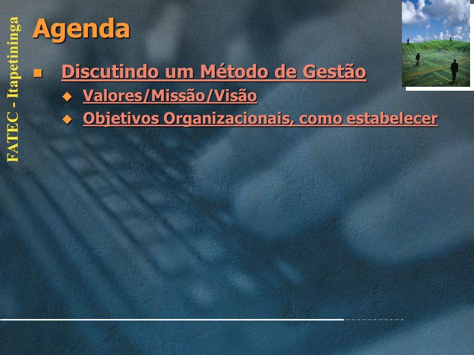 FATEC - Itapetininga Agenda Classificação Classificação Classificação Operativas / Gerenciais Operativas / Gerenciais Operativas / Gerenciais Operativ