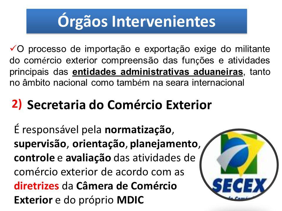 O controle aduaneiro brasileiro é exercido atualmente pela Secretaria da Receita Federal.