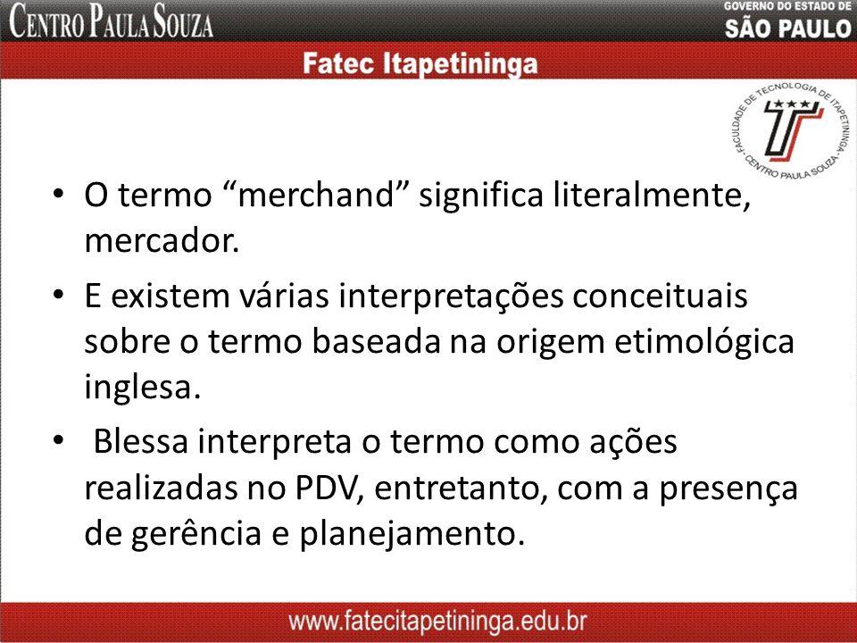 O termo merchand significa literalmente, mercador. E existem várias interpretações conceituais sobre o termo baseada na origem etimológica inglesa. Bl