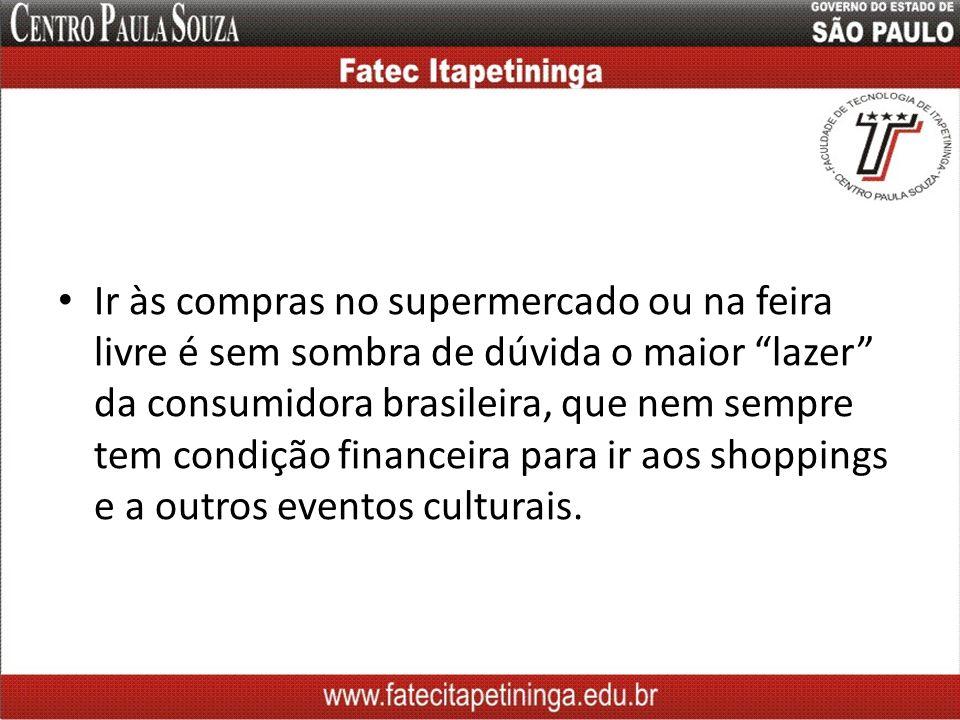 Ir às compras no supermercado ou na feira livre é sem sombra de dúvida o maior lazer da consumidora brasileira, que nem sempre tem condição financeira