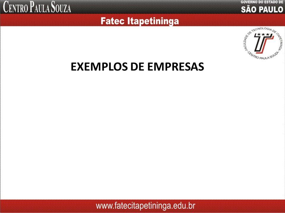 EXEMPLOS DE EMPRESAS