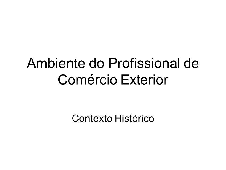 Ambiente do Profissional de Comércio Exterior Contexto Histórico
