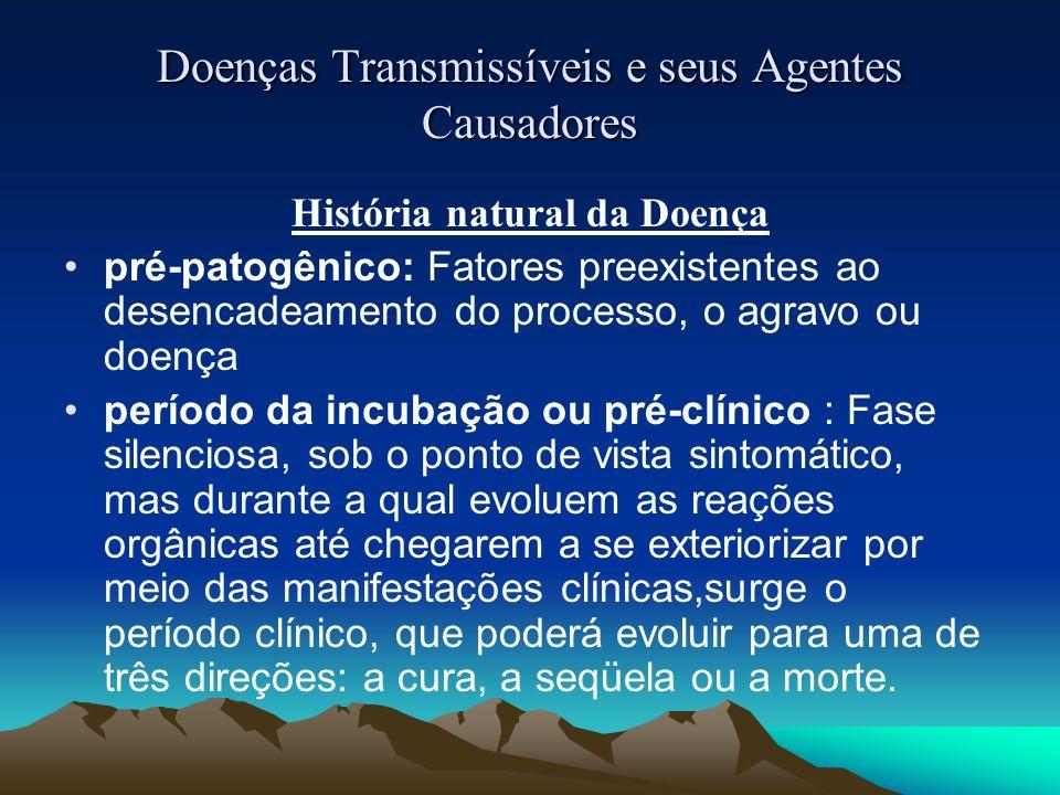 História natural da Doença pré-patogênico: Fatores preexistentes ao desencadeamento do processo, o agravo ou doença período da incubação ou pré-clínic