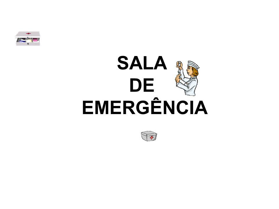 CARRINHO DE EMERGÊNCIA Cateter de aspiração Sondas endotraqueais 7,5; 8,0 ;8,5 e 9,0.