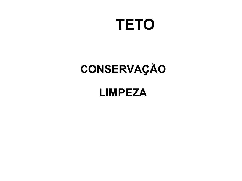 TETO CONSERVAÇÃO LIMPEZA