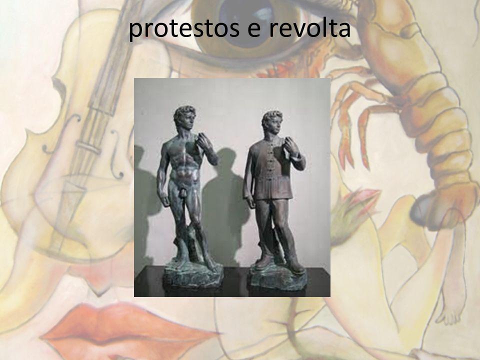 protestos e revolta