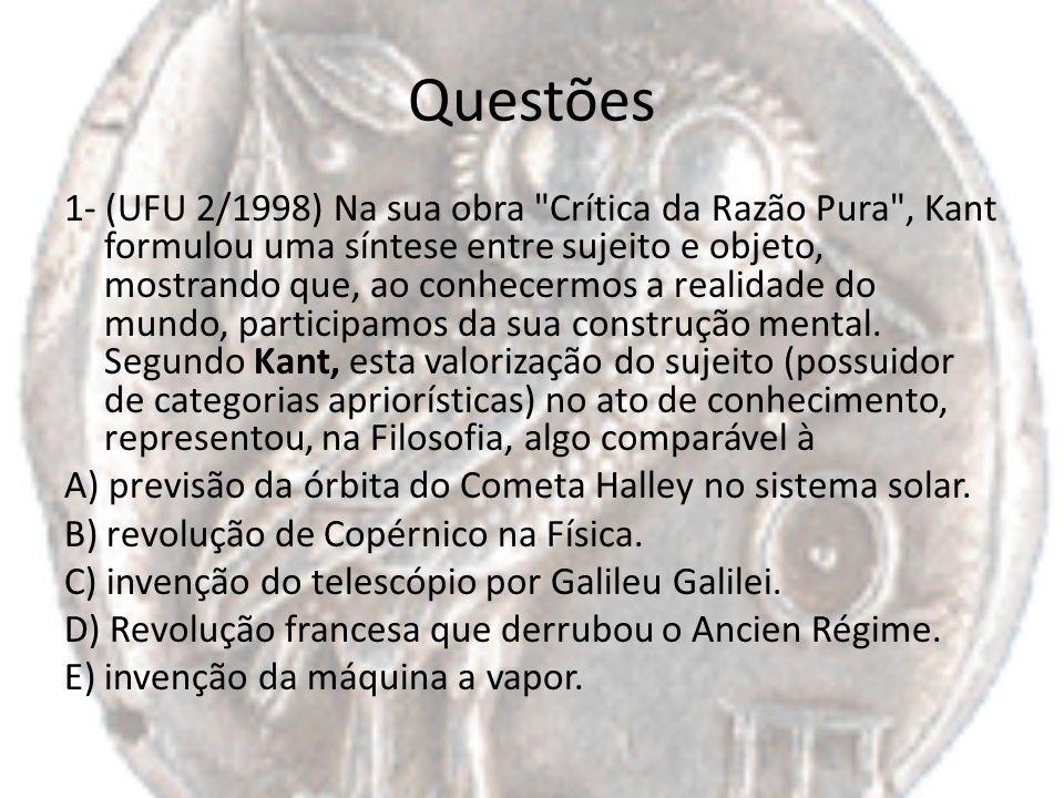 Questões 1- (UFU 2/1998) Na sua obra