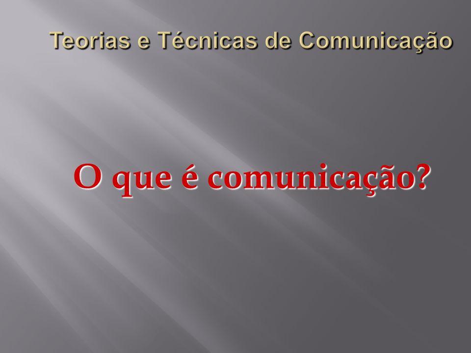 Comunicação Trata-se de uma habilidade, exclusivamente humana, que ocorre através da linguagem.