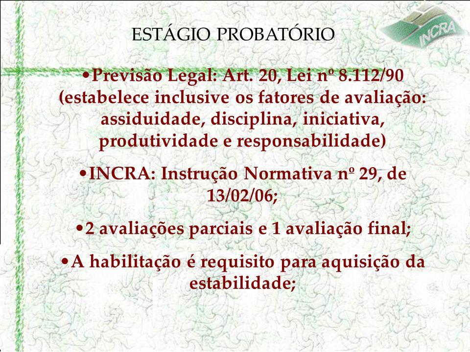 ESTÁGIO PROBATÓRIO Previsão Legal: Art.