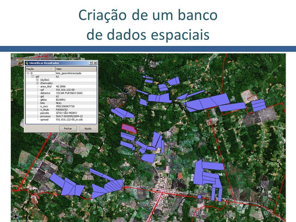 Ministério do Desenvolvimento Agrário Criação de um banco de dados espaciais