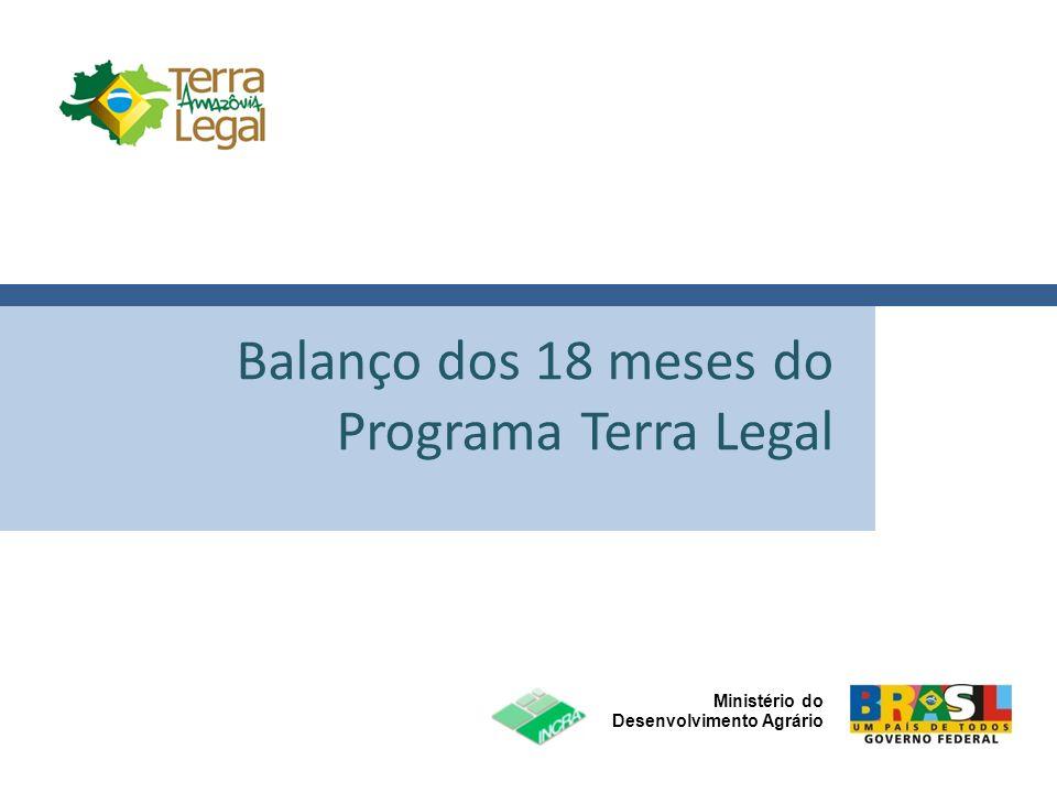 Ministério do Desenvolvimento Agrário Click to edit Master title style Diretrizes para a Destinação Sustentável das Terras Federais na Amazônia Legal