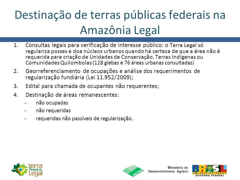 Ministério do Desenvolvimento Agrário Destinação de terras públicas federais na Amazônia Legal 1.Consultas legais para verificação de interesse públic
