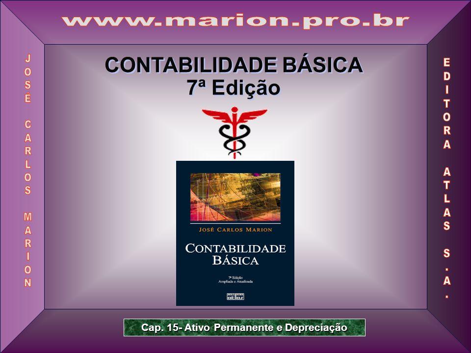 Prof.Dr. José Carlos Marion 2 Contabilidade Básica – 7ª Edição 15.