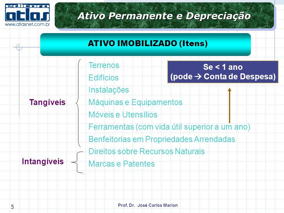 Prof.Dr. José Carlos Marion 6 Gastos para mantê-los ou recolocá-los em condições normais de uso.