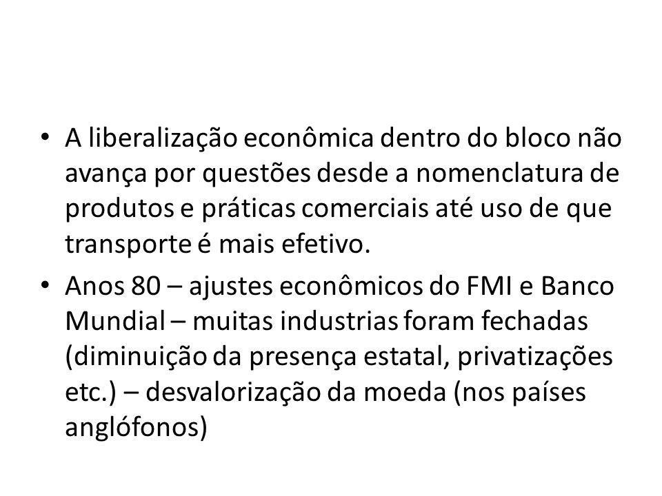 A liberalização econômica dentro do bloco não avança por questões desde a nomenclatura de produtos e práticas comerciais até uso de que transporte é m