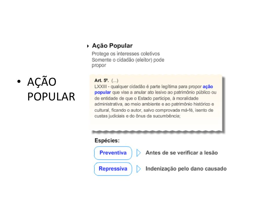 AÇÃO POPULAR