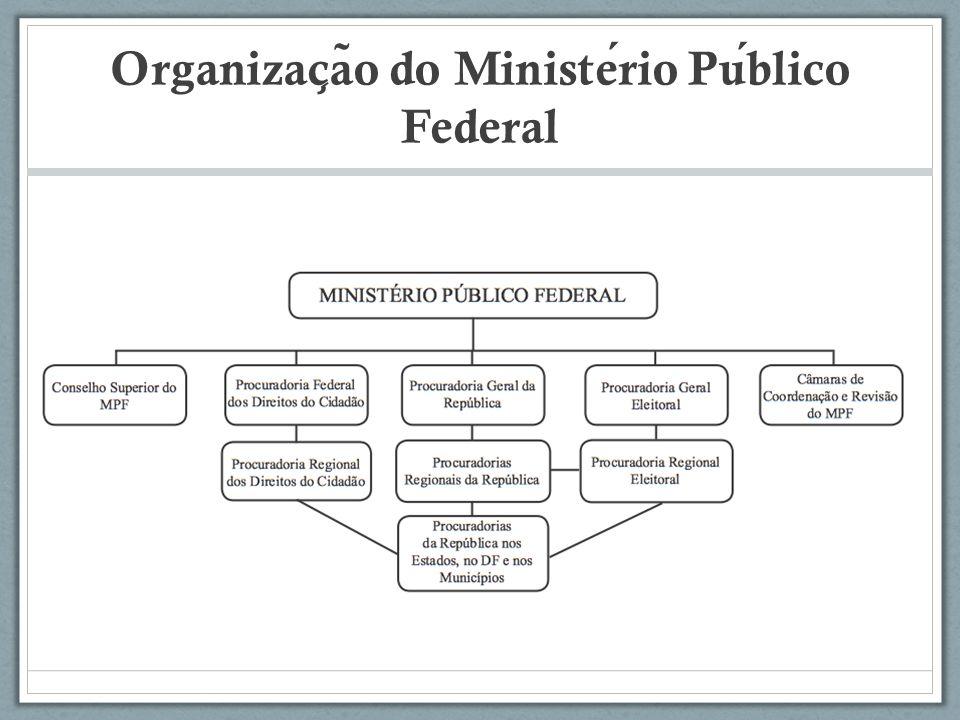 Organizac ̧ a ̃ o do Ministerio Publico Federal