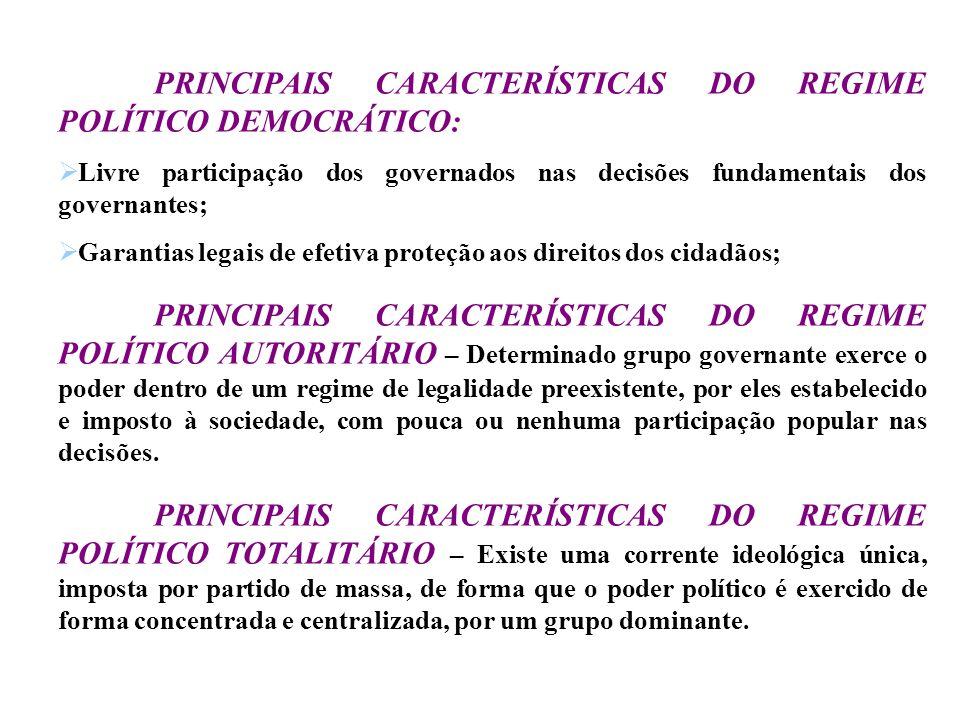 SEGUNDO MONTESQUIEU REPUBLICANO – É aquele em que o povo, ou parcela dele, possui o poder soberano, podendo ser aristocrata ou democrata. MONÁRQUICO –