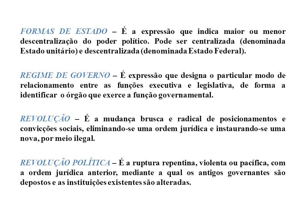 PRINCIPAIS CARACTERÍSTICAS DO REGIME POLÍTICO DEMOCRÁTICO: Livre participação dos governados nas decisões fundamentais dos governantes; Garantias lega