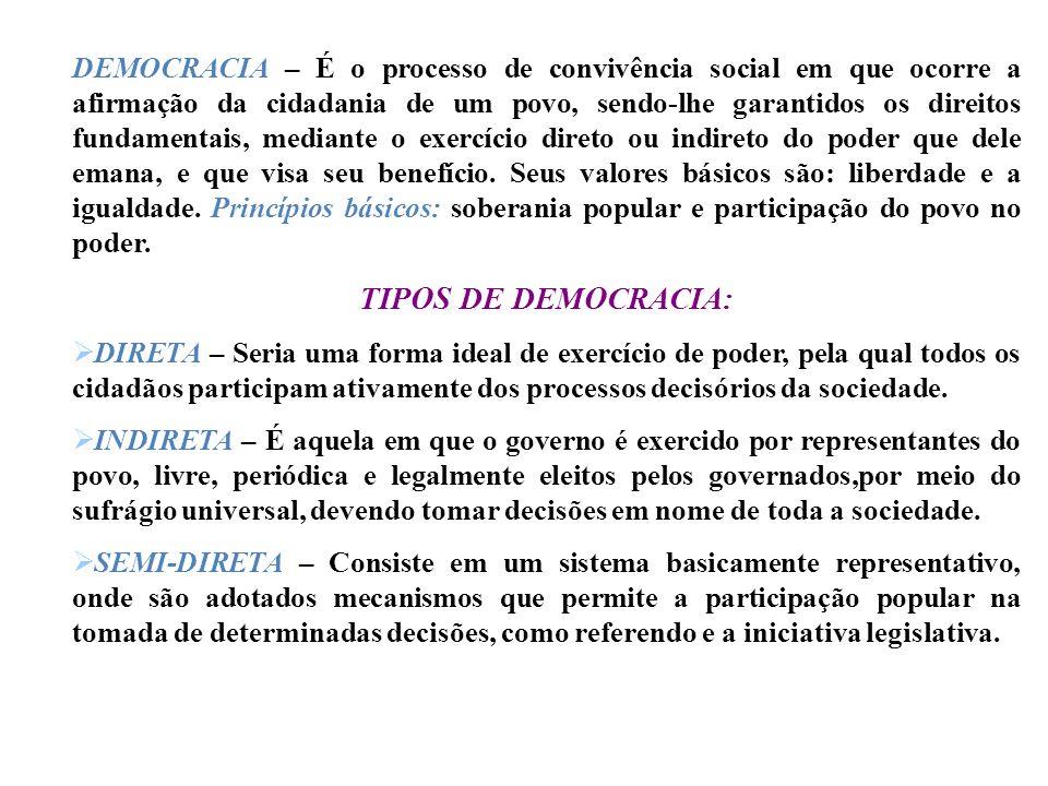 CESARISMO – É forma de poder ilegítimo, exercido pelo monarca, em fraude à lei, mediante emprego da força física ou de intimidação, e proteção a deter