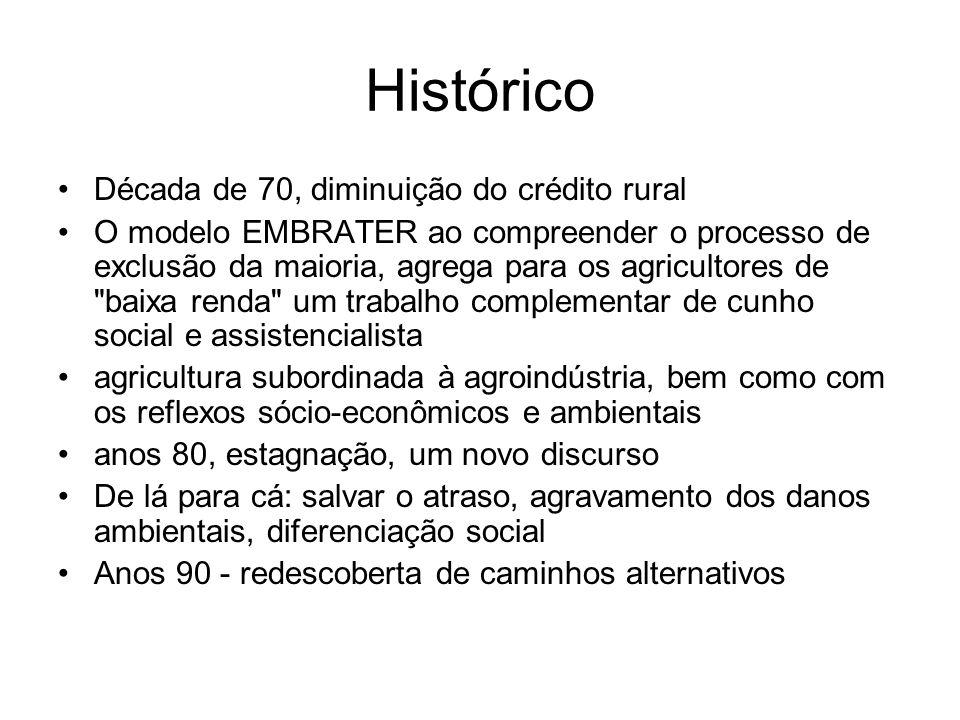As conseqüências do modelo de desenvolvimento: impactos ambientais e transformações sociais Desenvolvimento rural equilibrado e sustentável no médio e longo prazos Graziano Neto (1986) aumento da produção produtividade agrícola e sacrifícios sociais e ambientais - insumos químicos-mecânicos degradação de solos a contaminação do meio ambiente e a agressão aos recursos naturais, com reflexo na qualidade de vida de 1964 a 1979, a produtividade dos 15 principais cultivos do Brasil cresceu apenas 16,8%.