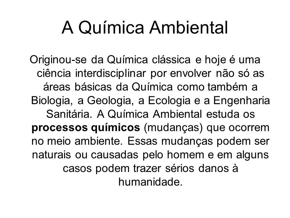 A Química Ambiental Química ambiental é a química do meio ambiente.