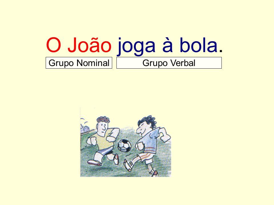 O João joga à bola. Grupo NominalGrupo Verbal