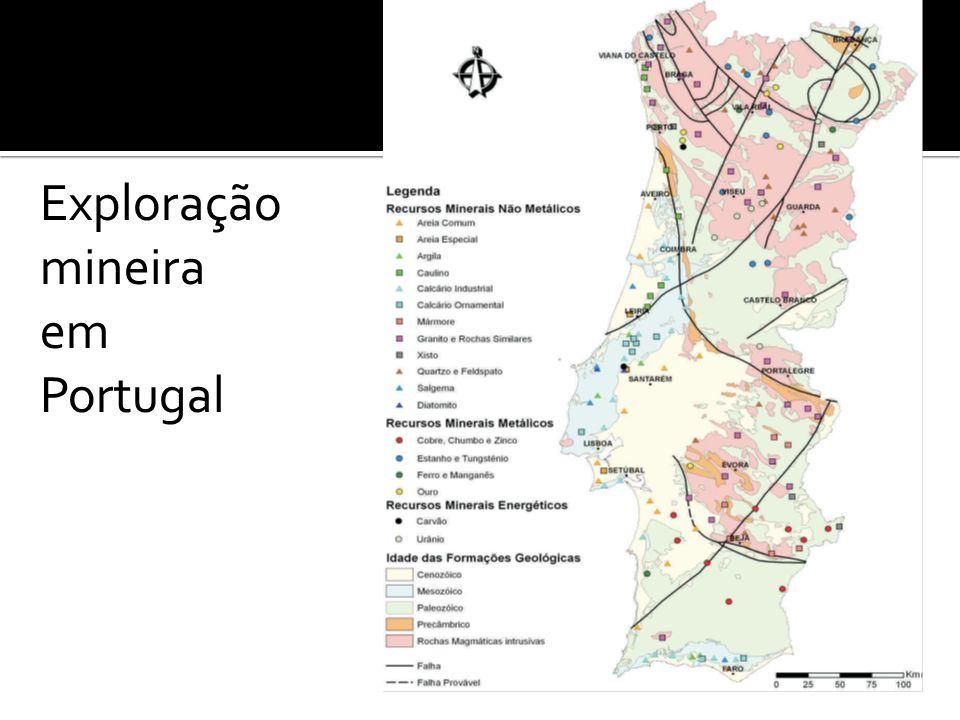 Exploração mineira em Portugal