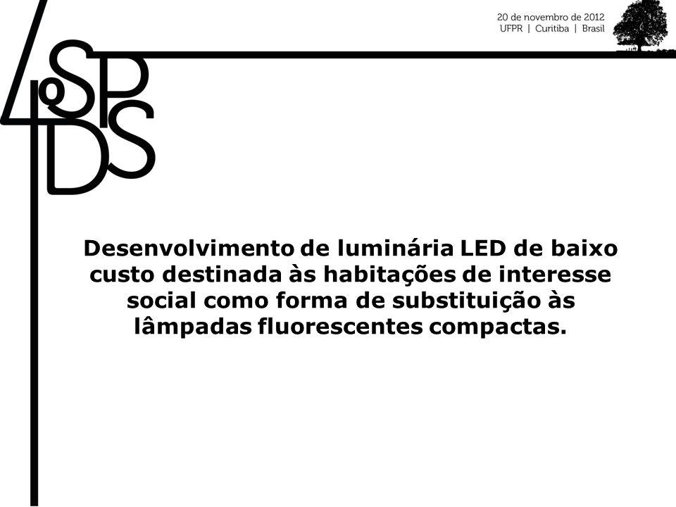 Desenvolvimento de luminária LED de baixo custo destinada às habitações de interesse social como forma de substituição às lâmpadas fluorescentes compa