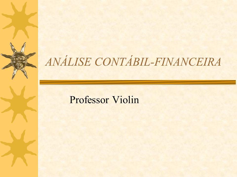 ANÁLISE CONTÁBIL-FINANCEIRA Professor Violin
