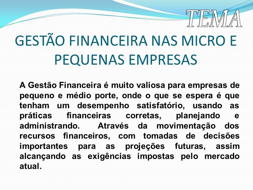 A Gestão Financeira é muito valiosa para empresas de pequeno e médio porte, onde o que se espera é que tenham um desempenho satisfatório, usando as pr