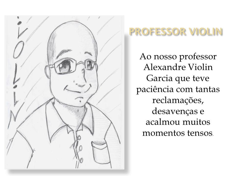 Ao nosso professor Alexandre Violin Garcia que teve paciência com tantas reclamações, desavenças e acalmou muitos momentos tensos.